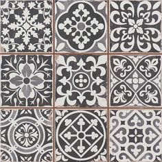 Peronda FS Faenza  Classic Vintage Spanish Tile  The are the perfect tiles in the hallway. Very easy to lay. The patterns are mixed and fool many into thinking they were all laid separately. Best of all, they do not show dirt and are very easy to clean.