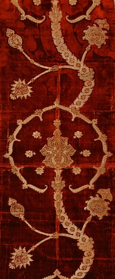 Length of velvet  Date: 16th century  Culture: Spanish or Italian  Medium: Pile on pile cut, voided, and brocaded velvet of silk and gold metallic thread with bouclé details