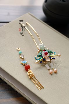 Jewelry Art, Fine Jewelry, Fashion Jewelry, Unique Jewelry, Chinese Hairpin, Chinese Element, Bride Hair Accessories, Kanzashi, Hair Decorations