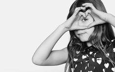 Distinctive heart prints in the Burberry Childrenswear A/W13 campaign
