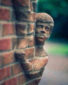Brick sculpture by North Carolina artist Brad Spencer