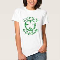 Vintage Lucky Charm Irish St. Patricks Day T-Shirt   #stpatricksday #stpattysday #irish #gifts http://www.zazzle.com/ctek101*