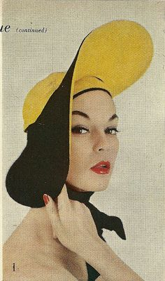 Yellow and Black Hat 1954