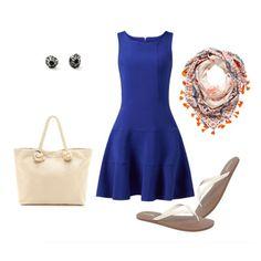 Six Ways to Style a Cobalt Blue Dress - Casey Sharpe Jewelry