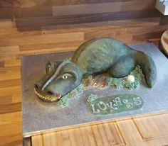 Geburtstag-Kinder » 3D Dinosaurier Torte Dino