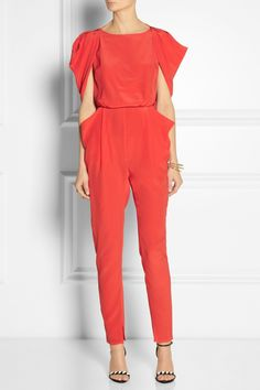 ca960cae6d6 Vionnet - Draped-back silk jumpsuit