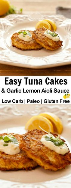 Fantasy Fish Cakes- low carb , gluten free tuna cakes