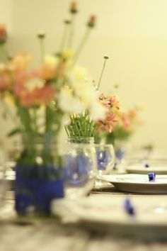 Mini wedding, mini casamento, rustico, rustic, azul, blue, decoraçao, decor, mesa de jantar, dinner table.