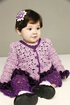 Vestido e casaco de tricô para bebê / DIY, Craft, Upcycle