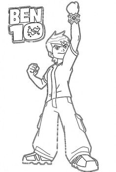 ben ten coloring pages free