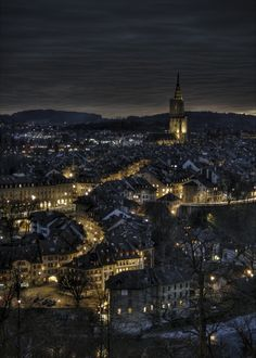 Bern, Switzerland Photo by Remo Rufer Beautiful Places To Visit, Oh The Places You'll Go, Great Places, Places To Travel, Amazing Places, Berne, Switzerland Cities, Famous Places, Night City