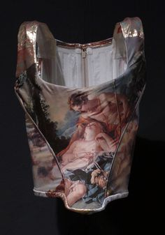 This Boucher corset from Vivienne Westwood's Portrait Collection of 1990 used the imagery of the 18th century to create a new version of the maitresse en titre of the French court. Westwood saw Boucher moved from the decoration of boudoir walls to corsetry.