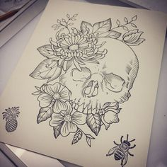 devinsheehy-drawing-sketchbook-sketch-art-artwork/ - The world's most private search engine Tattoo Design Drawings, Tattoo Sketches, Art Drawings Sketches, Tattoo Designs, Sketch Art, Tattoo Ideas, Artwork Drawings, Skull Sketch, Sketch Ideas