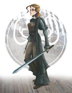 "Yara (aka Asha) Greyjoy.   ""She's commanded men. She's killed men. And she knows who she is."""