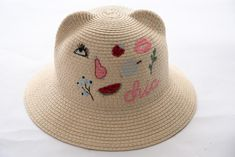 1 pcs Fashion children Straw Hat Kids Folding Multicolor Beach Summer Baby Hats for 2-10years
