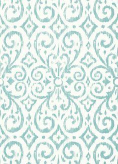 Patara Ikat Wallpaper from Thibaut - T64145 - Aqua