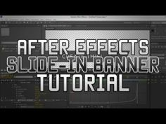 """After Effects CS6: """"Lower Thirds"""" Tutorial - YouTube Lower Thirds, After Effects Projects, Graphic Design, Adobe, Youtube, Cob Loaf, Youtubers, Visual Communication, Youtube Movies"""