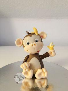 Fondant Affe, Äffchen, monkey, Banane, banana