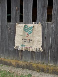 Ruffled Burlap Curtain Coffee Sack French Country Farmhouse Kitchen Window Treatment Burlap Panel Rustic Curtain Made to Order Custom by misshettie on Etsy https://www.etsy.com/listing/123288791/ruffled-burlap-curtain-coffee-sack