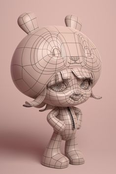 Linda Panda: a making of-- The Character was posed using the standard Move and Rotate tools in MODO Character Design, Polygon Modeling, Game Character Design, Maya Modeling, Animated Characters, Character Design Animation, 3d Character, Character Modeling, Art Toy