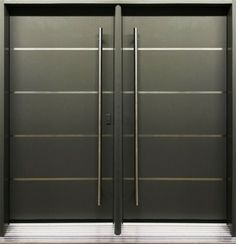 Modern front entry doors - Double entry door from Thermoluxe contemporary collection - Avenue series - AV24
