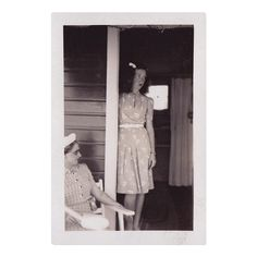 Vintage Snapshot | Collection of Guy Saunders #snapshot #vintagephotos #foundphotograph #unknownphotographer #amateur #vernacular #composition #dated #1939 #1940s #USA #porch #girl #unhappy #feelingtrapped #onholidaywithparents #onholidaywithgrandparents #whenwillthisend #backtoschool #vintagesnapshot