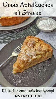 Easy Baking Recipes, Apple Recipes, Sweet Recipes, Cooking Recipes, German Cakes Recipes, Cake Recipes, Breakfast Bake, Food Cakes, Bakery