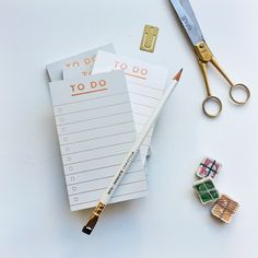 Rose gold foil task notepads | Smitten on Paper