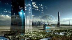 Extraño paisaje futurista Lighting, Nature, Light Fittings, Lights, The Great Outdoors, Lightning, Natural
