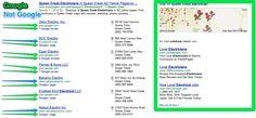 Local Search Results - Google vs Non Google.  Crazy to see.
