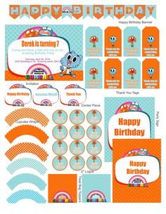 The Amazing World Of Gumball Party Supplies by KidsPartyDreams