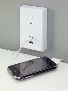 RCA USB Wall Plate- Have to get one!