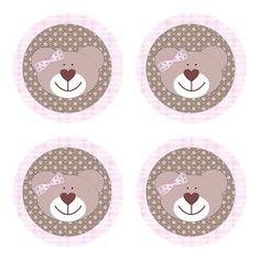 """Latinha """"mint to be"""" com adesivo de ursinha, rosa com marrom.  Cor da latinha: prateada Tamanho: 5cm de diâmetro x 1cm de altura Impressão, à laser, colorida.  Para lembrancinha de nascimento, aniversário, chá de bebê, chá de fraldas.  BRINDE: tag e embalagem. R$1,50  Compre na Boutique de Encantos: www.boutiquedeencantos.elo7.com.br"""
