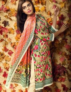Khaadi Beige Pakistani Cotton Lawn Suit With  Dupatta L15581B