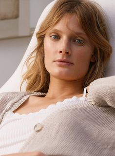 Constance Jablonski Lounges in Zara Home s Spring Lingerie Collection ba02331c8918c