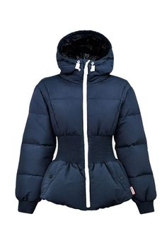 Hunter Original Fitted Down Jacket, $385; huntereboots.com - 15 Chic Puffer Jackets You'll Actually Want to Wear - Elle