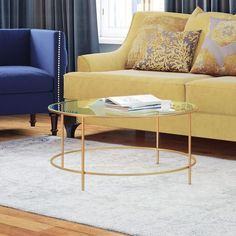 A coffee table is intended to be the focal point of a living room; without it, the interior looks insufficient as well as diminished. So selecting the right coffee table for the living-room is a cr… Coffee Table Joss And Main, 3 Piece Coffee Table Set, Glass Top Coffee Table, Cool Coffee Tables, Round Coffee Table, Coffee Table With Storage, Modern Coffee Tables, Home Living Room, Living Room Furniture
