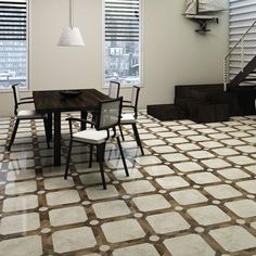 EliteTile Nicolaus Ceramic Floor and Wall Tile in Brown/Ivory