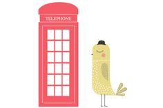 Bird Sticker   Pájaro inglés
