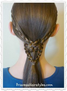Heart knot ponytail tutorial. Easy!