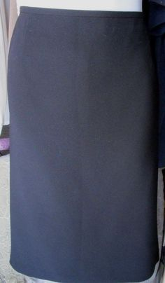 Jones Studio Black Polyester Pencil Skirt Below Knee Size 16 #JonesStudio #StraightPencil