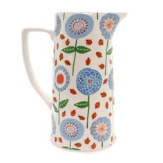ceramic painting Tabletop Floral Pitcher Tabletop Size: Inches Material: Ceramic Type: Tabletop Brand: Tabletop Item Number: Tabletop Catalog ID: 36883 New. Ceramic Cafe, Ceramic Pitcher, Ceramic Pottery, Pottery Painting Designs, Pottery Designs, Paint Designs, Crackpot Café, Keramik Design, Paint Your Own Pottery