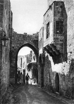 Remnants of Roman archway in Jerusalem. When you go, pay attention or you'll walk right by it. It's still there.