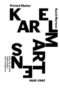 Karel Martens, Printed Matter