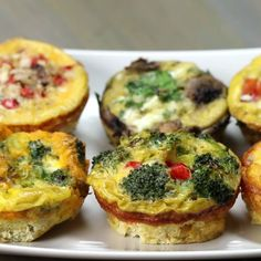 Egg Breakfast Cups we love these! I try them every chance I get Breakfast In Muffin Tins, Breakfast Egg Muffins, Muffin Tin Eggs, Breakfast Egg Recipes, Easy Breakfast Ideas, Spinach And Eggs Breakfast, Paleo Breakfast Casserole, Egg White Muffins, Breakfast Sandwiches