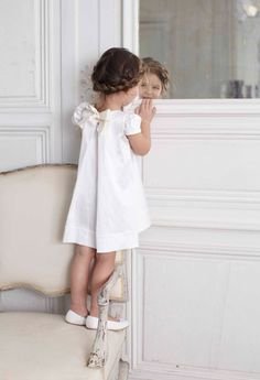 white dress on a special day #girl #fashion