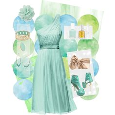 """Mint and gold"" by thegirlwhono-oneknows on Polyvore"