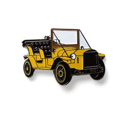 Doctor Who Bessie Old Retro Yellow Car 8.95$ Perfect Accessory for Jackets, Hats, and Bags!