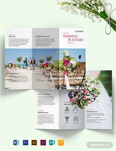 Instantly Download Wedding Planners Tri-Fold Brochure Template, Sample & Example in Microsoft Word (DOC), Adobe Photoshop (PSD), Adobe InDesign (INDD & IDML), Apple Pages, Microsoft Publisher, Adobe Illustrator (AI) Format. Available in US (8.5x11) A3(11x17)inches + Bleed. Quickly Customize. Easily Editable & Printable.