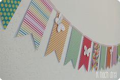 DIY: Wimpelkette aus Papier